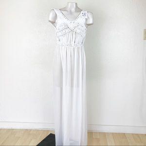 Macrame Crochet beach cover up dress.       A084-6